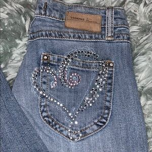 Vigoss Jeans with Heart Jeweled detail